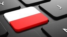 Poland - Flag on Button of Black Keyboard.
